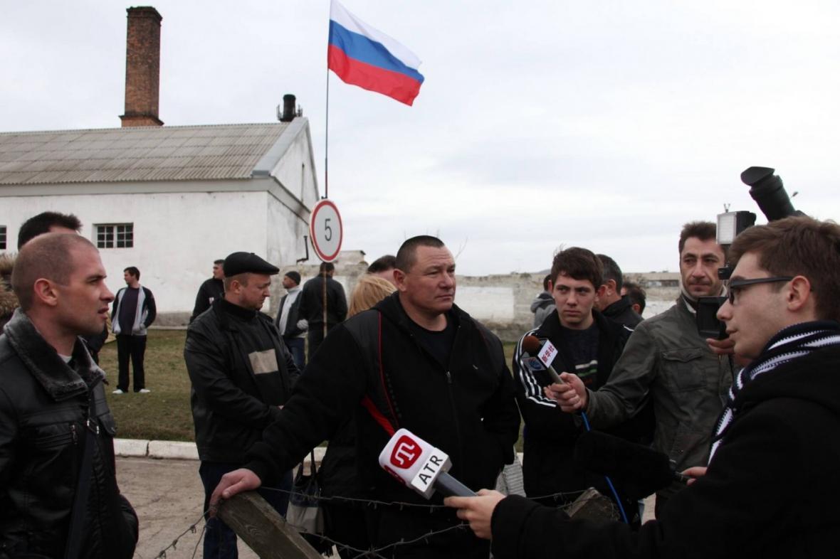 Ukrajinští novináři v Simferopolu