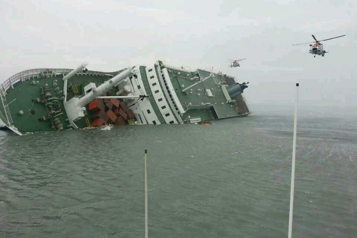 Potopený jihokorejský trajekt