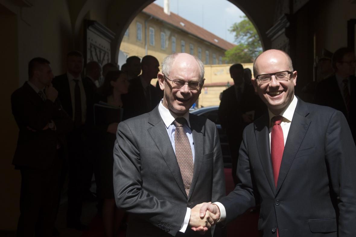Bohuslav Sobotka a Herman van Rompuy