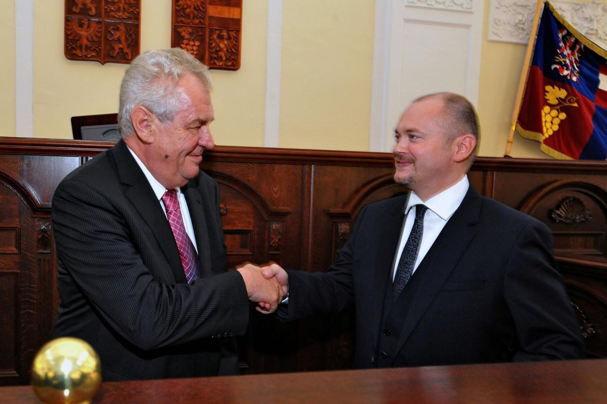 Miloš Zeman a Michal Hašek