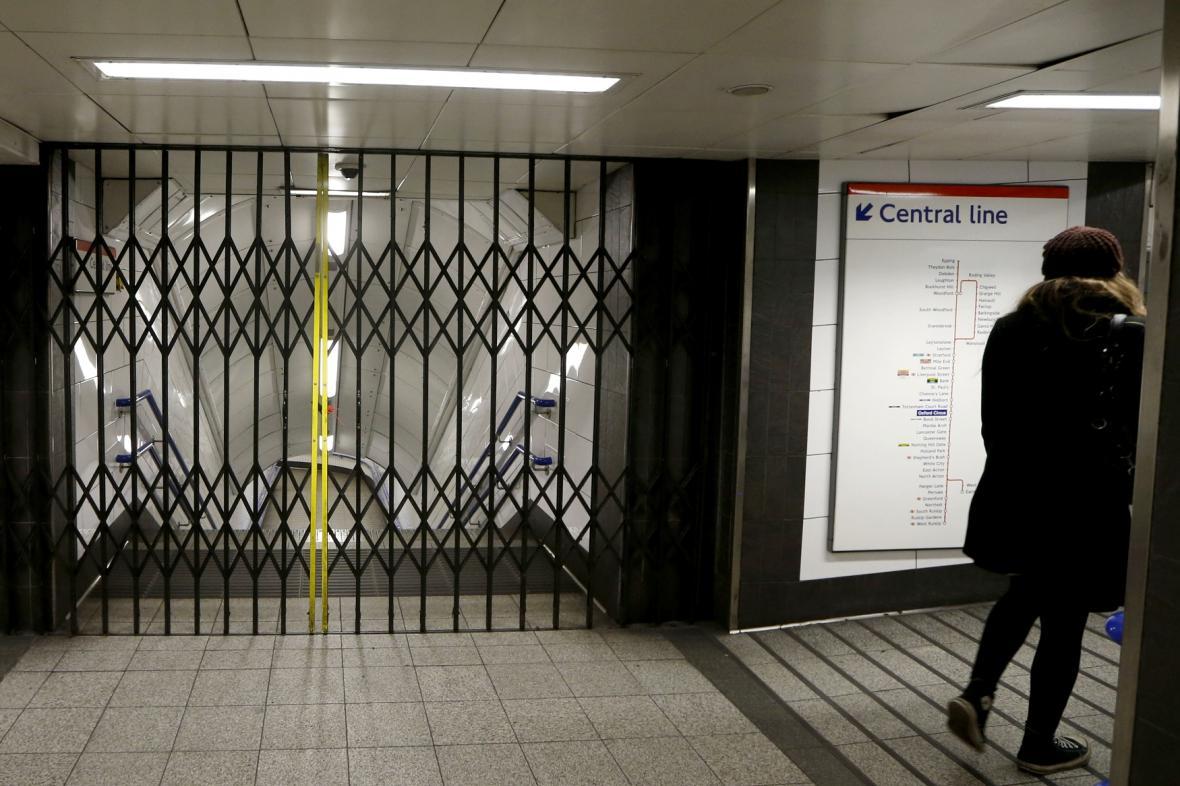 Stávka v londýnském metru uzavřela některé linky