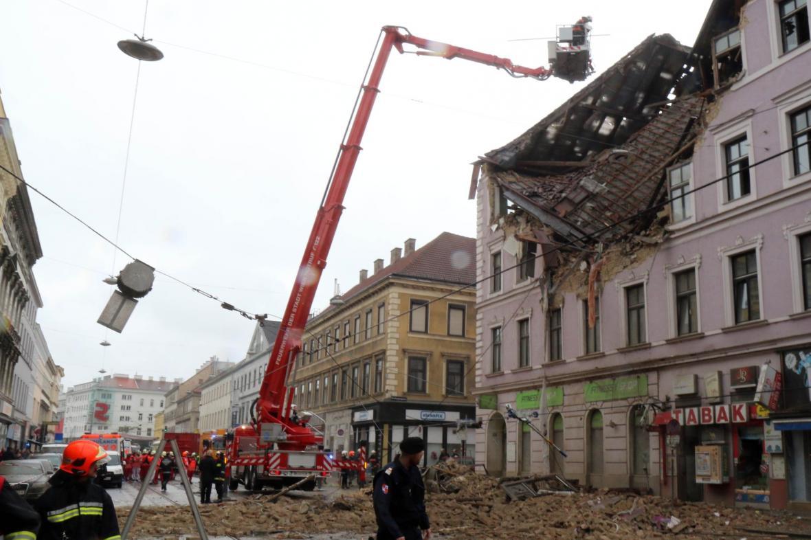 Výbuch domu ve Vídni