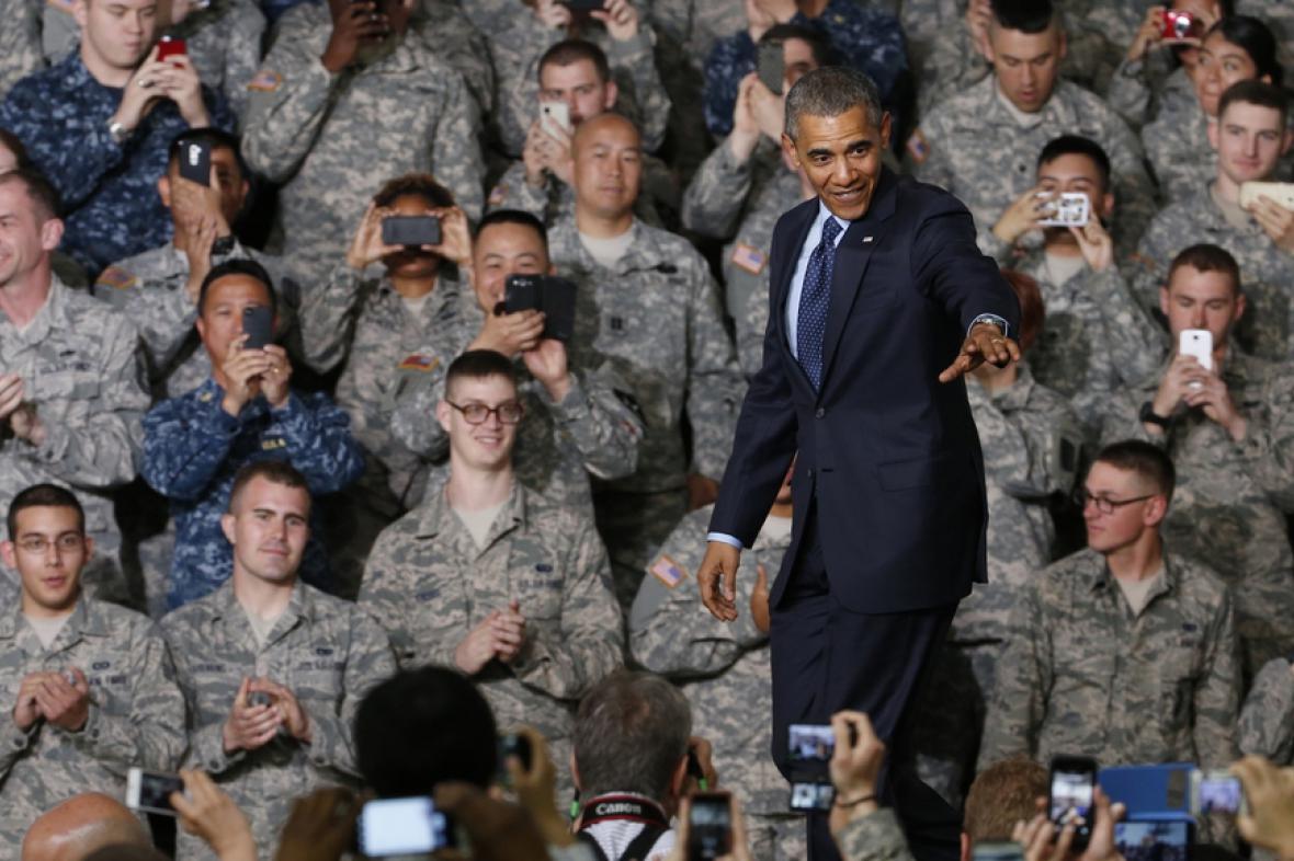 Obama při návštěvě amerických posádek v Jižní Koreji