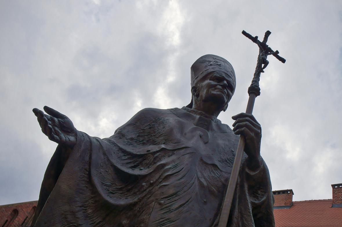 Socha Jana Pavla II. v Krakově