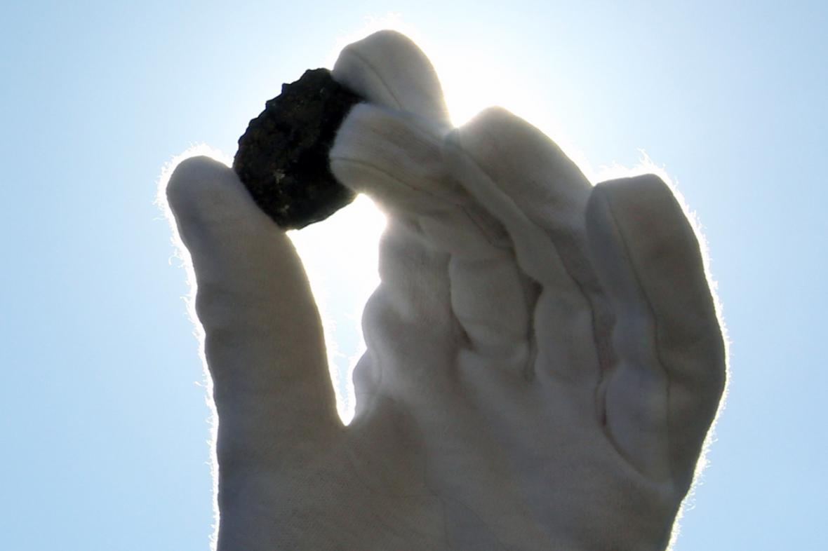 Úlomek čeljabinského meteoritu
