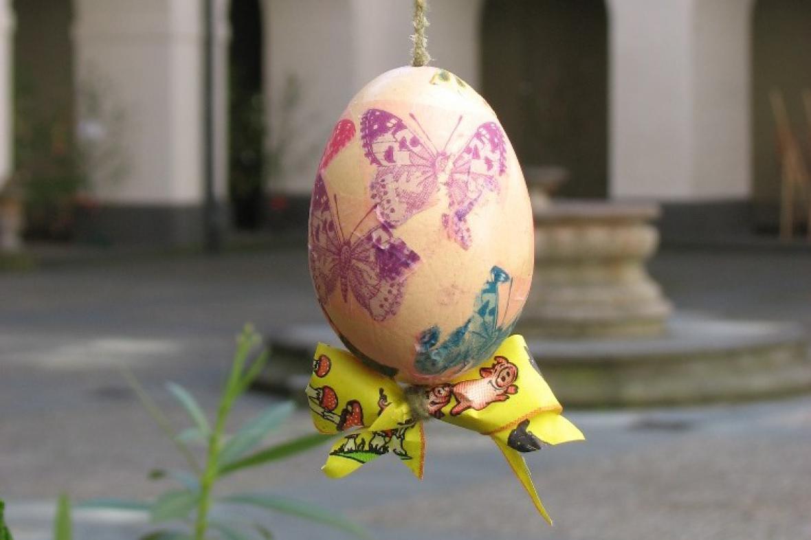 Soutěž o nejhezčí velikonoční strom na zámku Zákupy