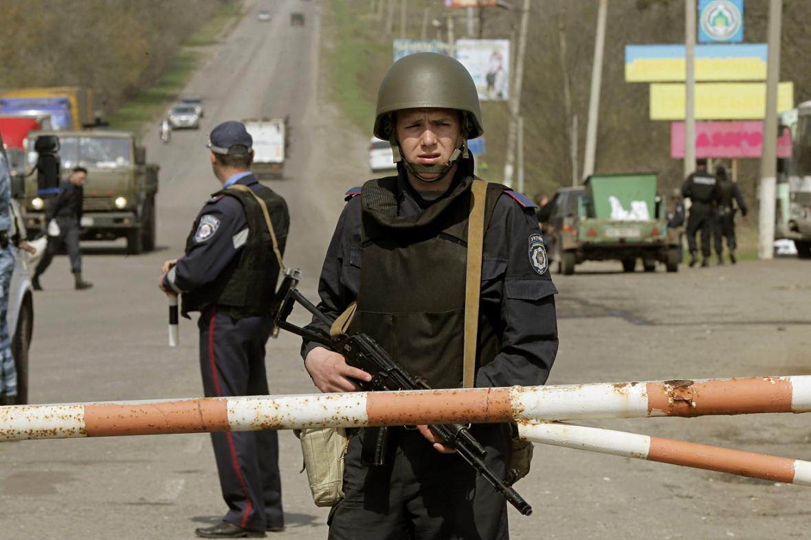 Ukrajinská vojenská hlídka