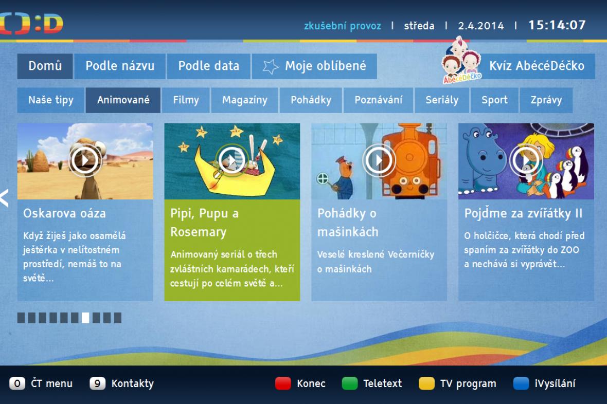 Aplikace dětských archivních pořadů iVysílání :D