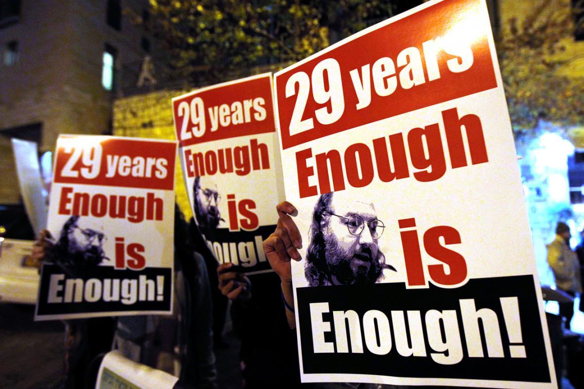 Demonstrace za propuštění Jonathana Pollarda