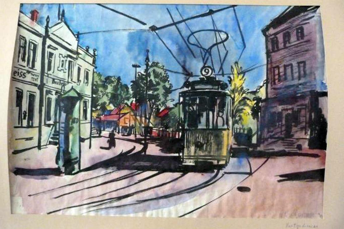 Gurlittova sbírka: Street Tram od Bernharda Kretschmara