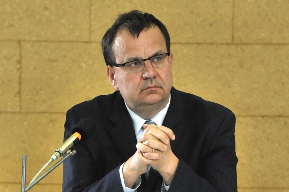 Ministr průmyslu a obchodu Jan Mládek