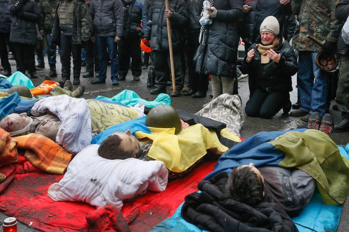 Oběti protestů v Kyjevě
