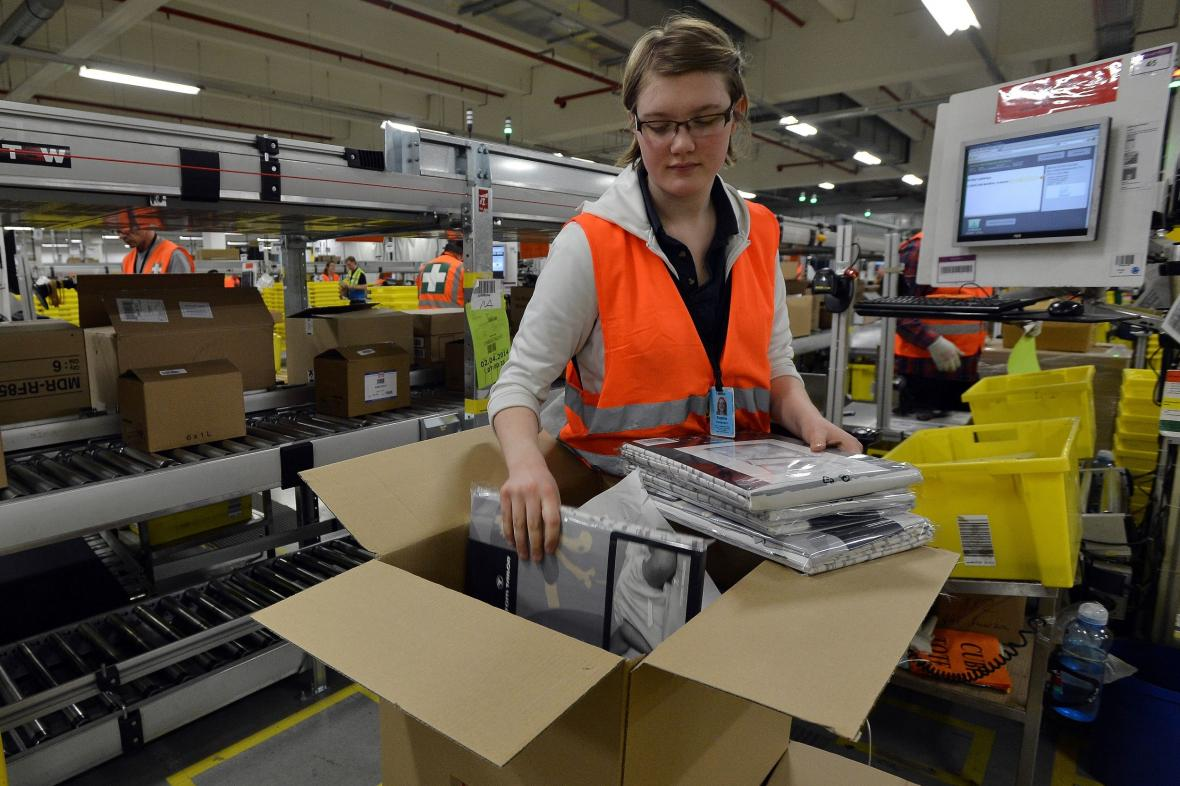 Distribuční centrum firmy Amazon