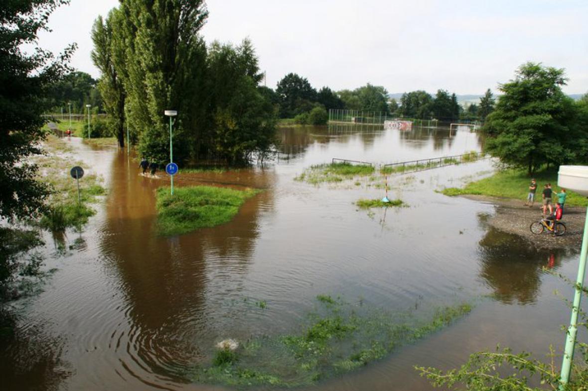 Záplavy - Česká Lípa
