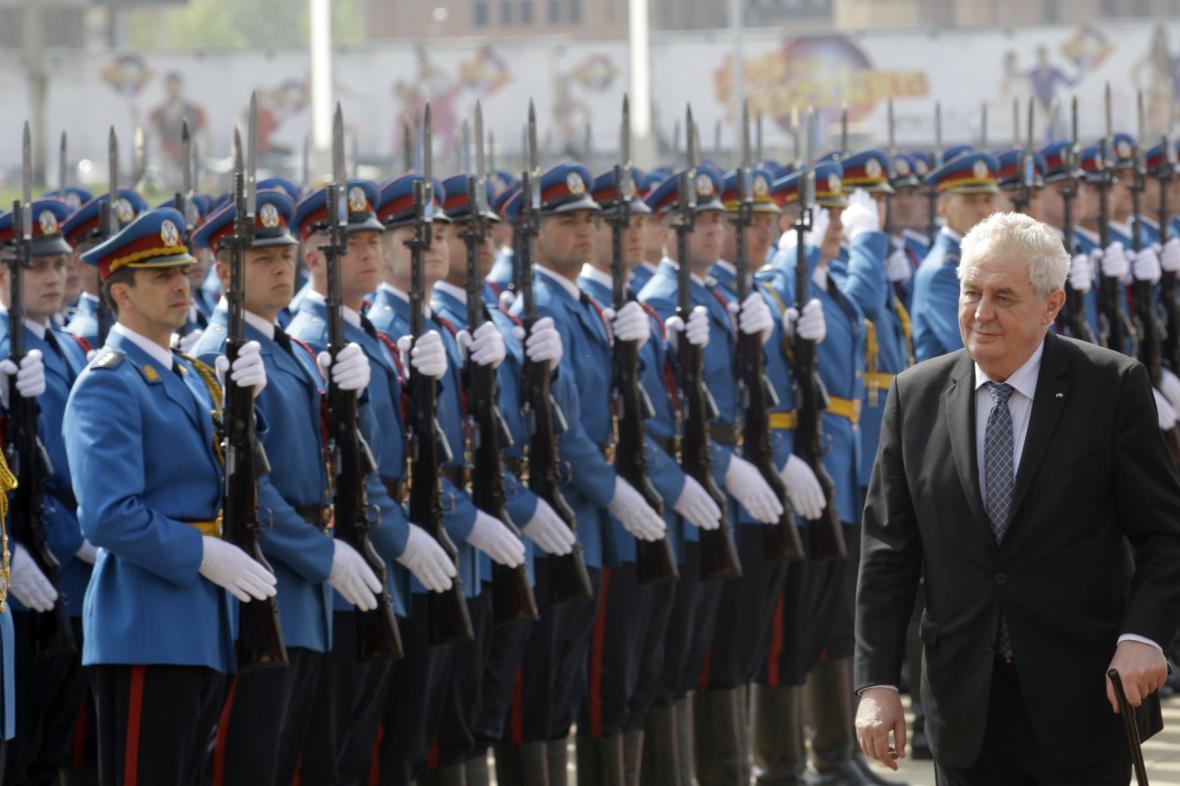 Miloš Zeman v Srbsku