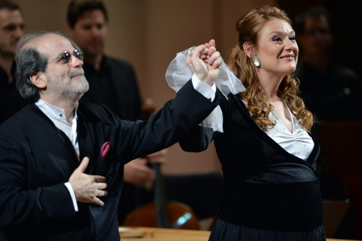 Andrea Marcon a Magdalena Kožená