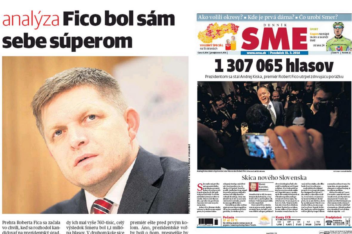 Slovenský tisk komentuje Ficův neúspěch