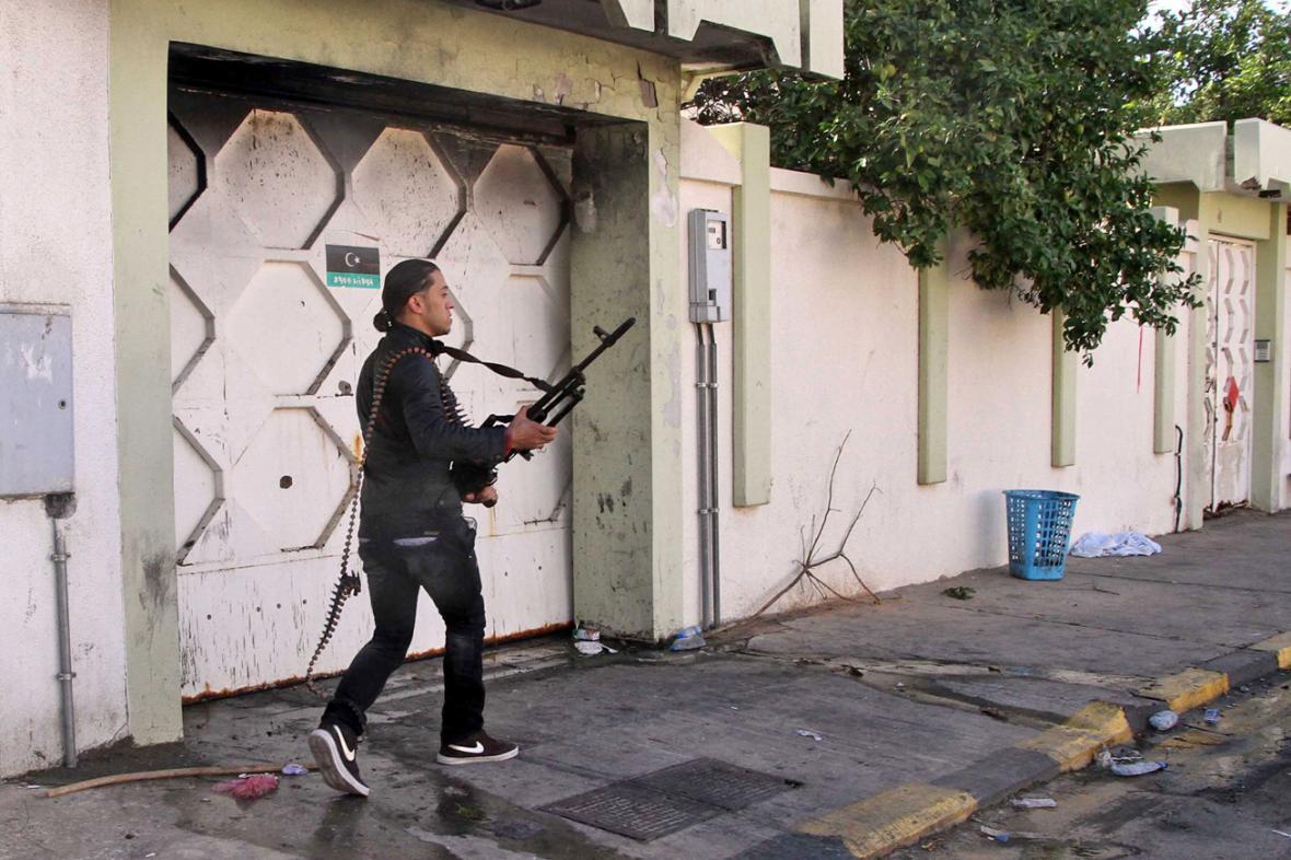 Člen libyjských milicí