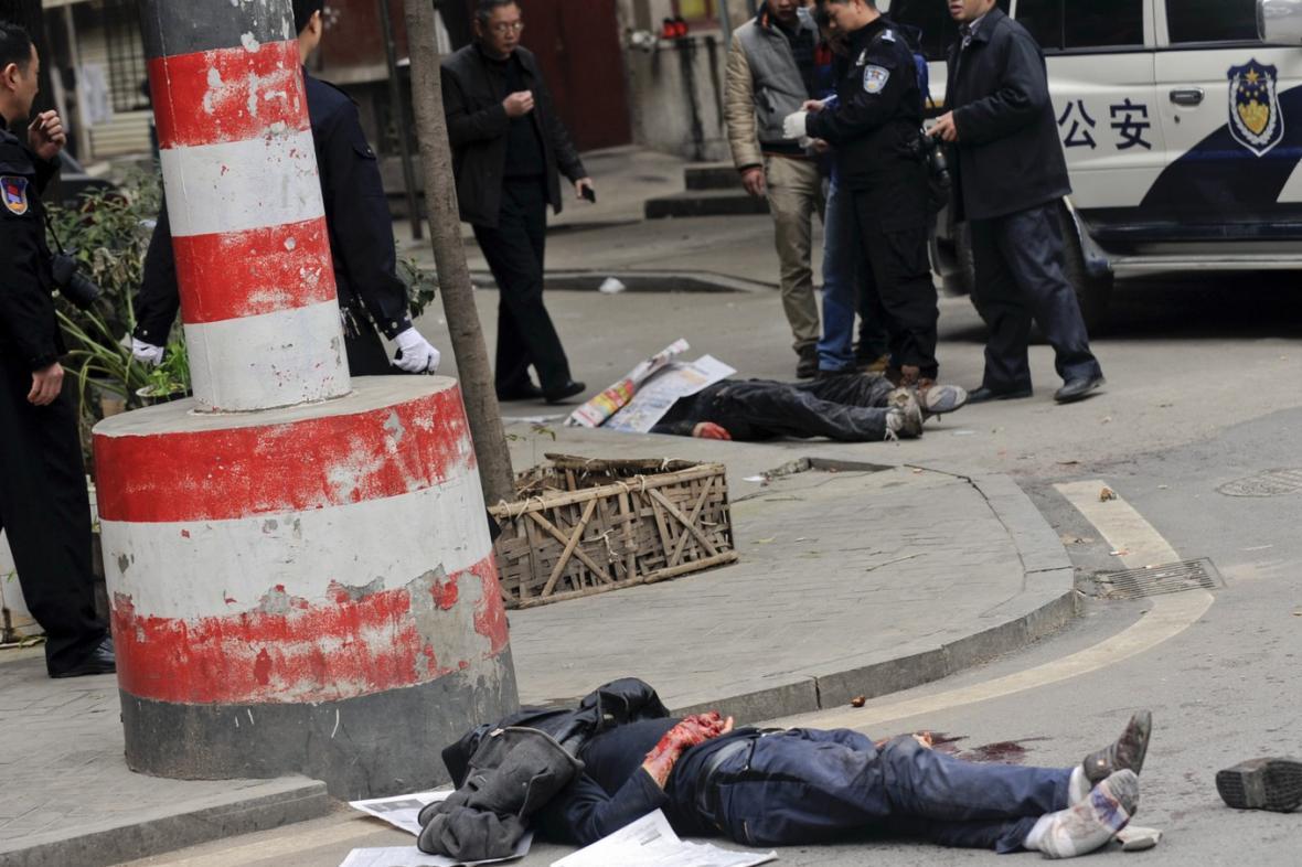 Oběti útoku nožem v Číně
