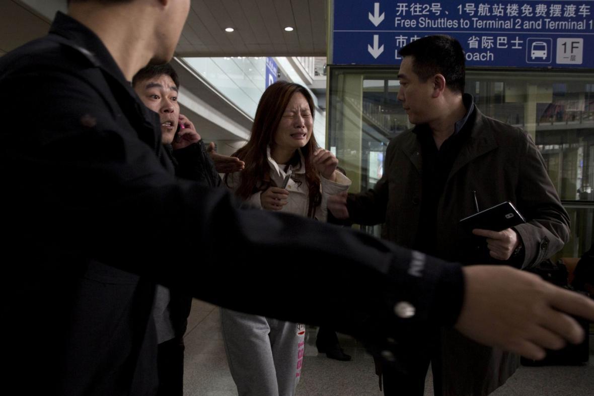 Příbuzní cestujících ze ztraceného letu MH370
