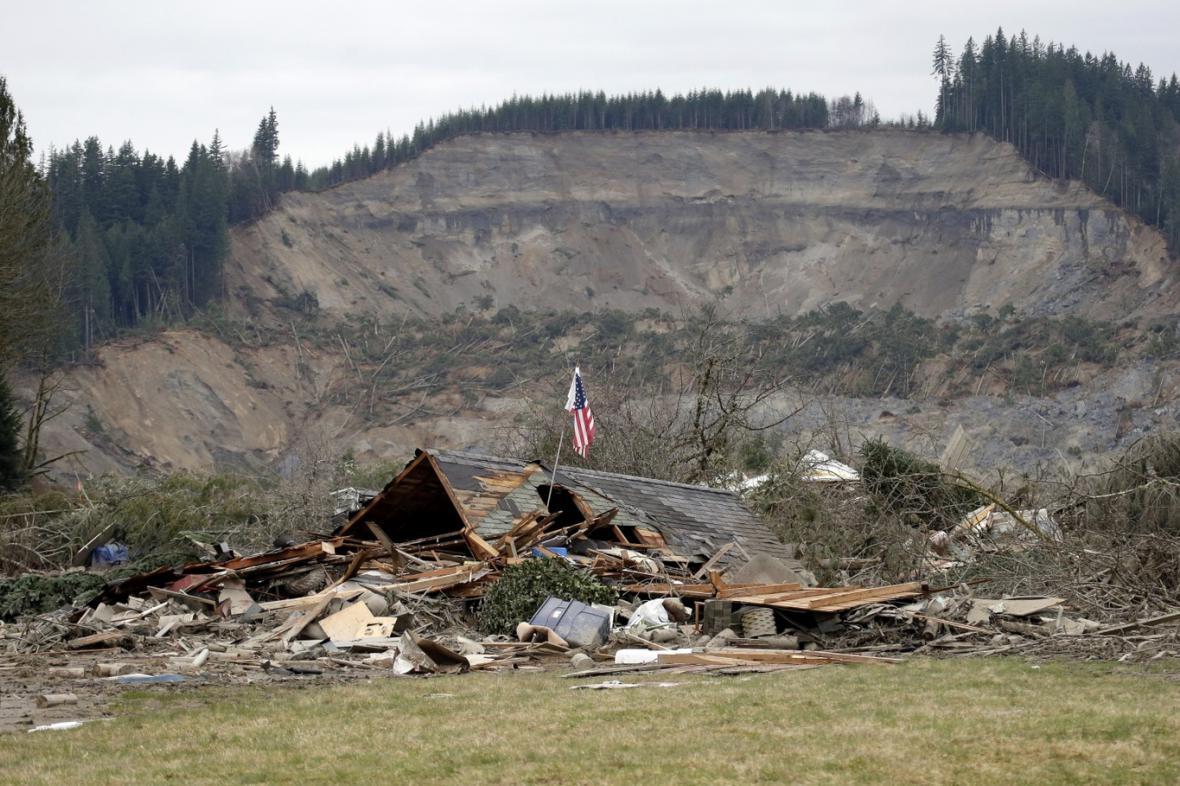 Sesuv půdy v americkém státě Washington