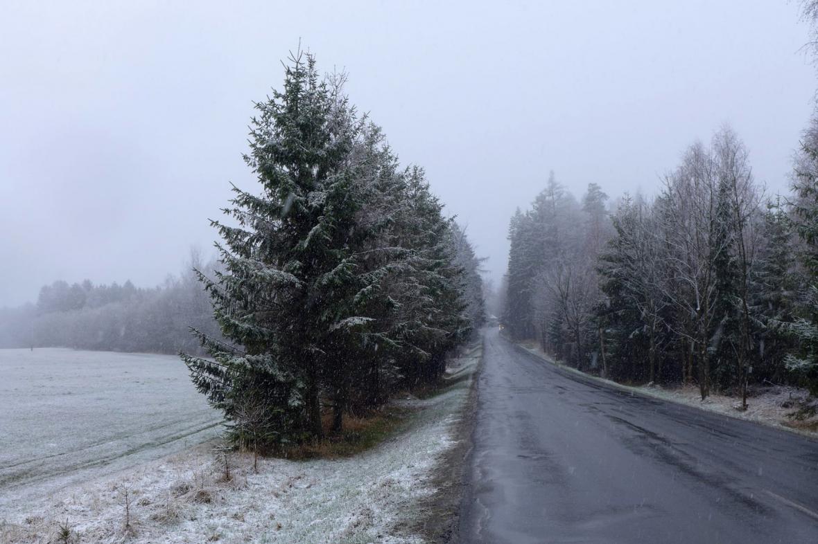 Zimní počasí na Českomoravské vrchovině
