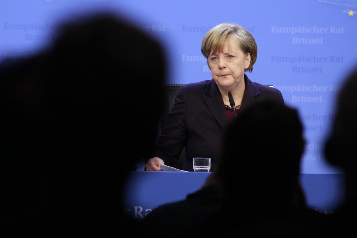 Angela Merkelová na summitu EU