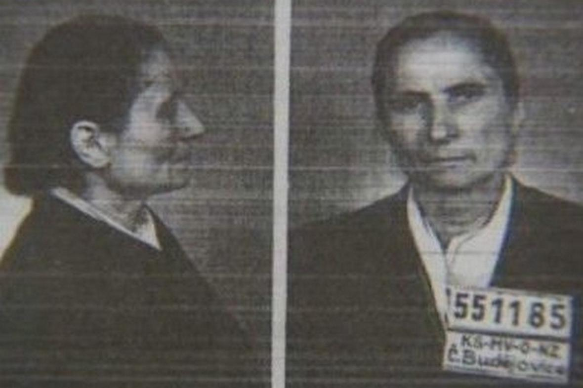 Marie Švejdová na policejních fotografiích