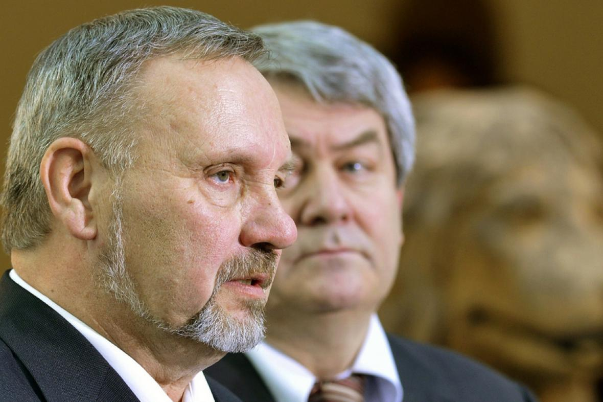 Pavel Kováčik s Vojtěchem Filipem ve sněmovně