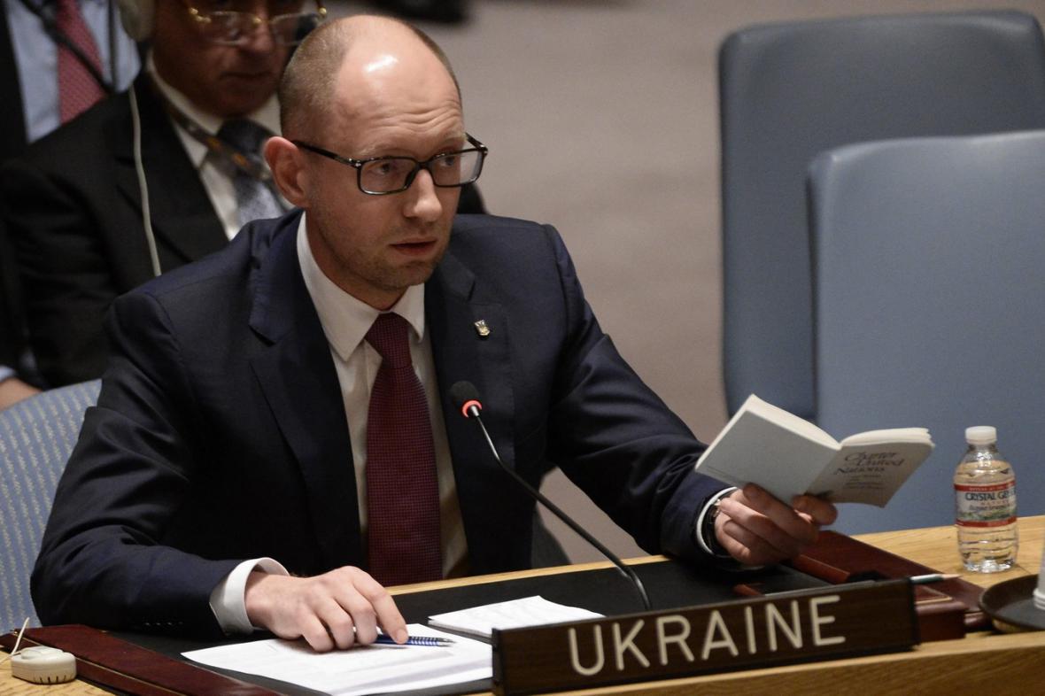 Arsenij Jaceňuk v Radě bezpečnosti