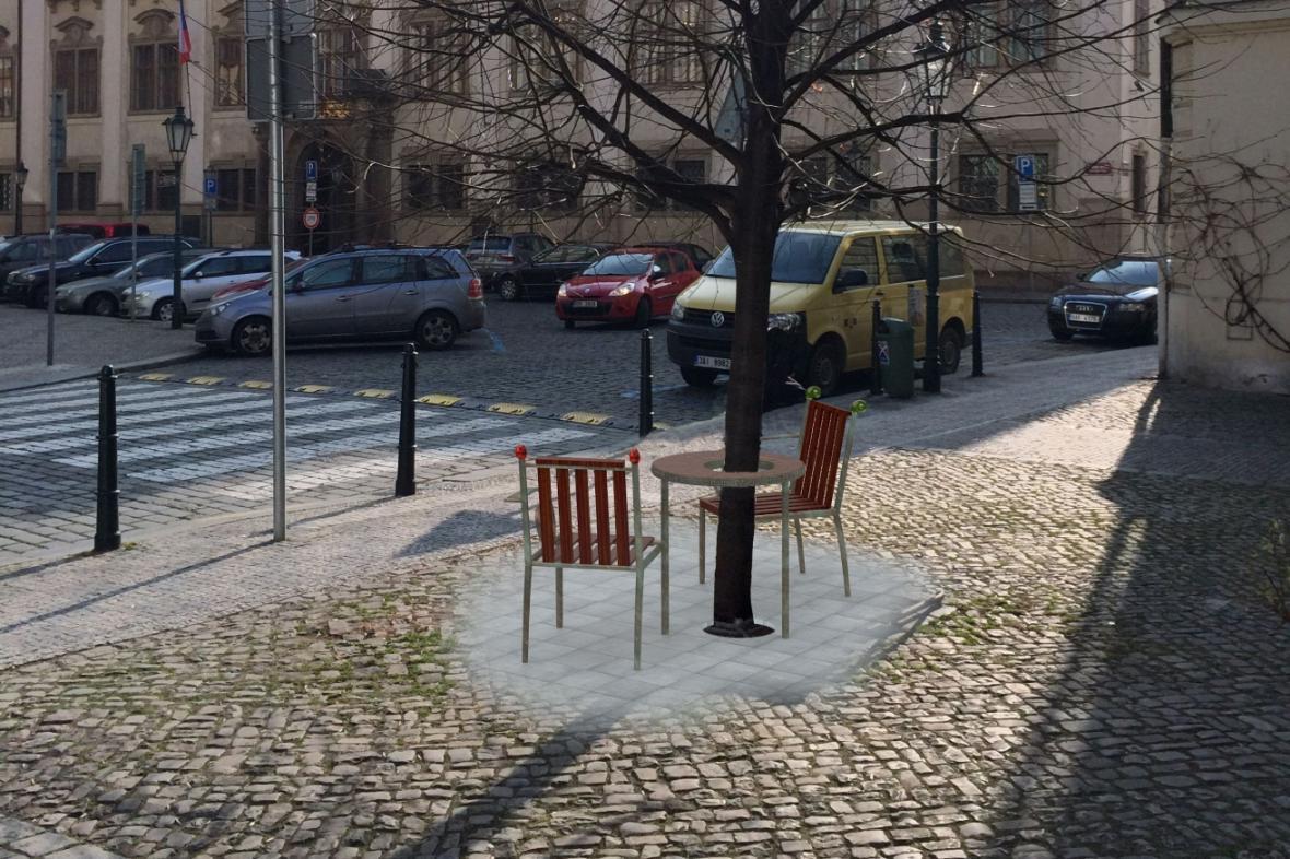 Vizualizace památníku Václava Havla