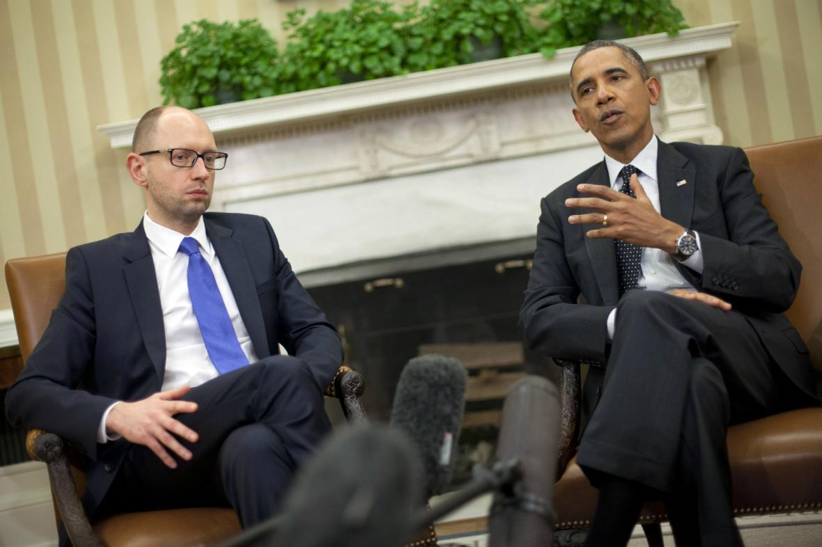 Arsenij Jaceňuk jednal v Bílém domě s Barackem Obamou