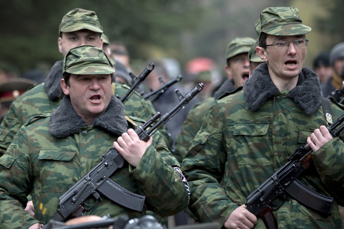 Proruské jednotky na Krymu
