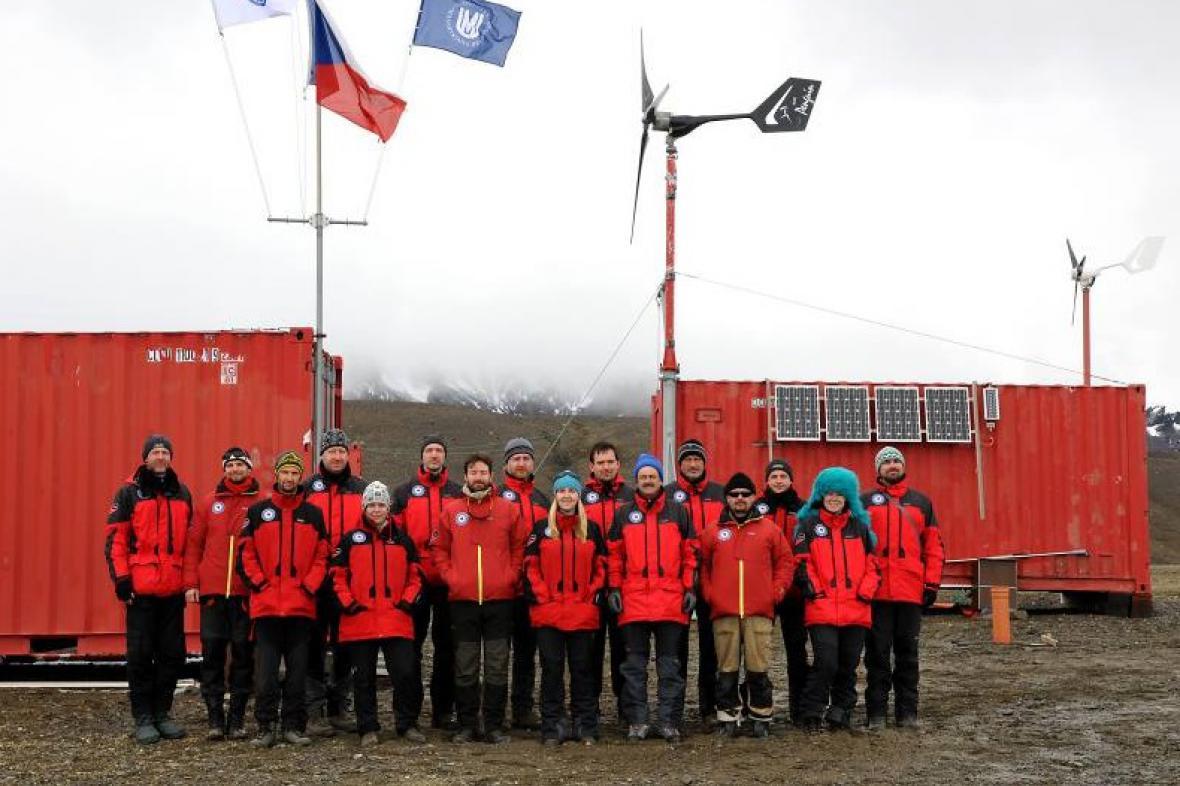 Členové expedice Antarktida 2014
