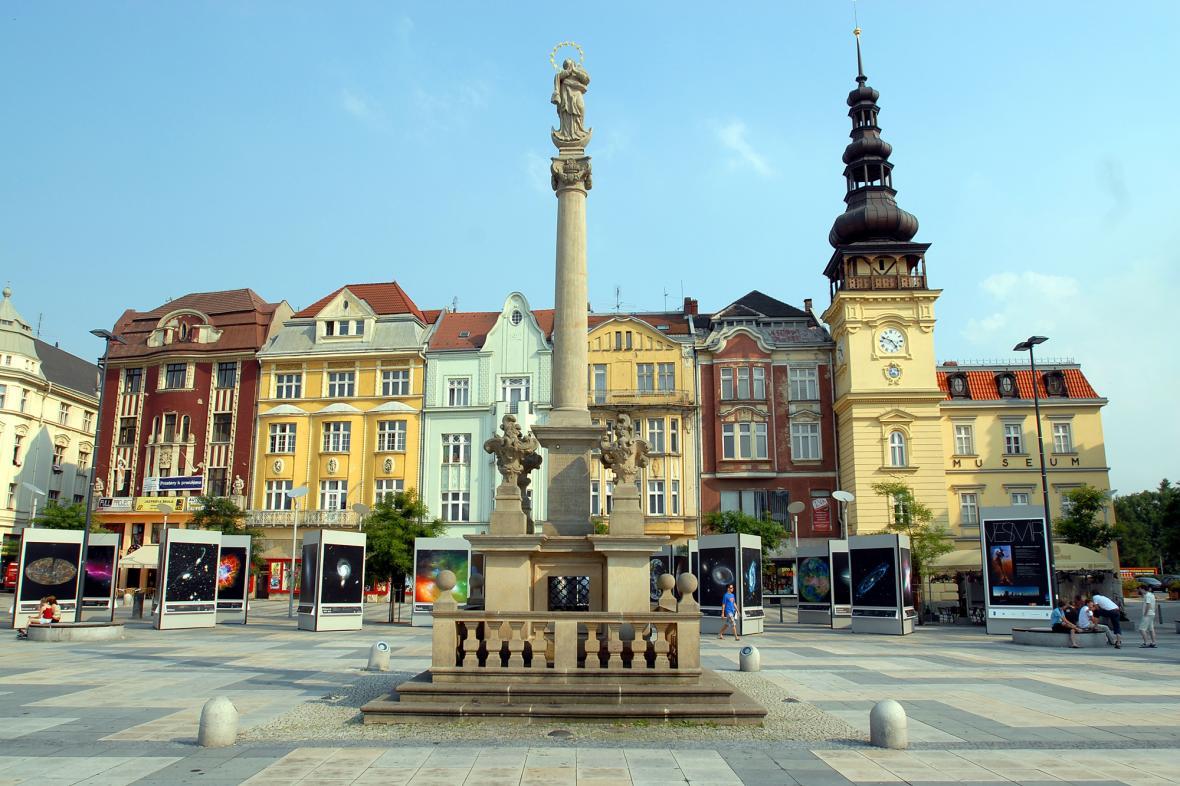 Ostrava - Masarykovo náměstí, Morový sloup
