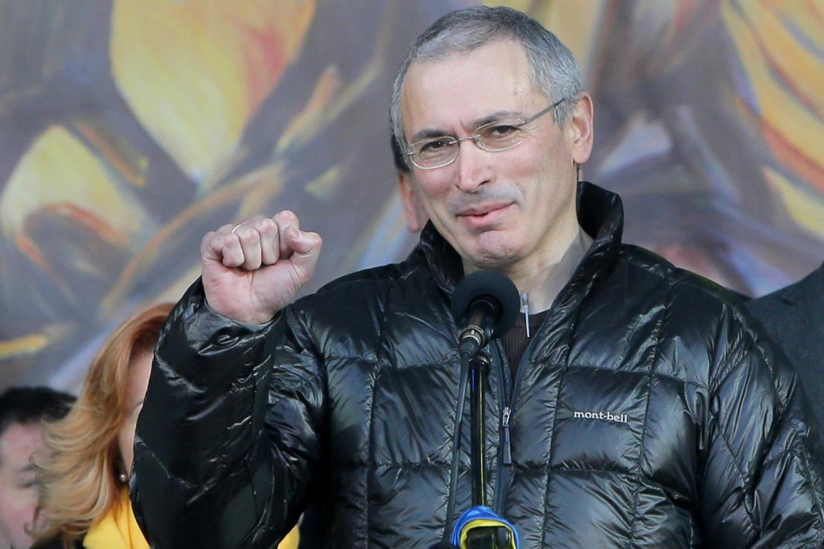 Michail Chodorkovskij v Kyjevě