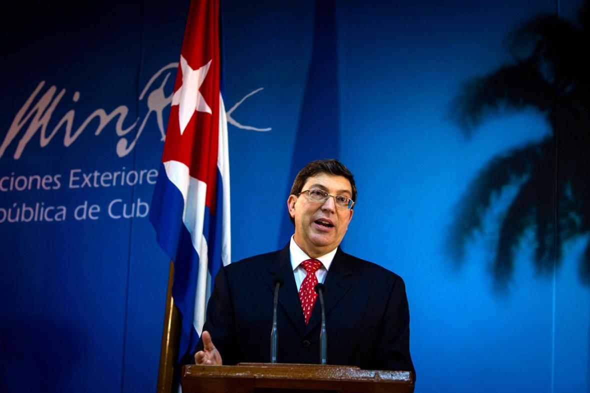 Kubánský ministr zahraničí Bruno Rodríguez