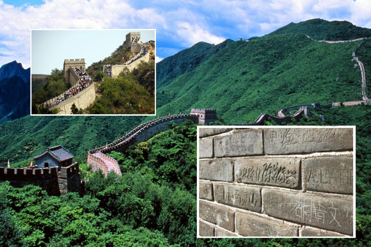 Ani Velká čínská zeď se nevyhne nápisům