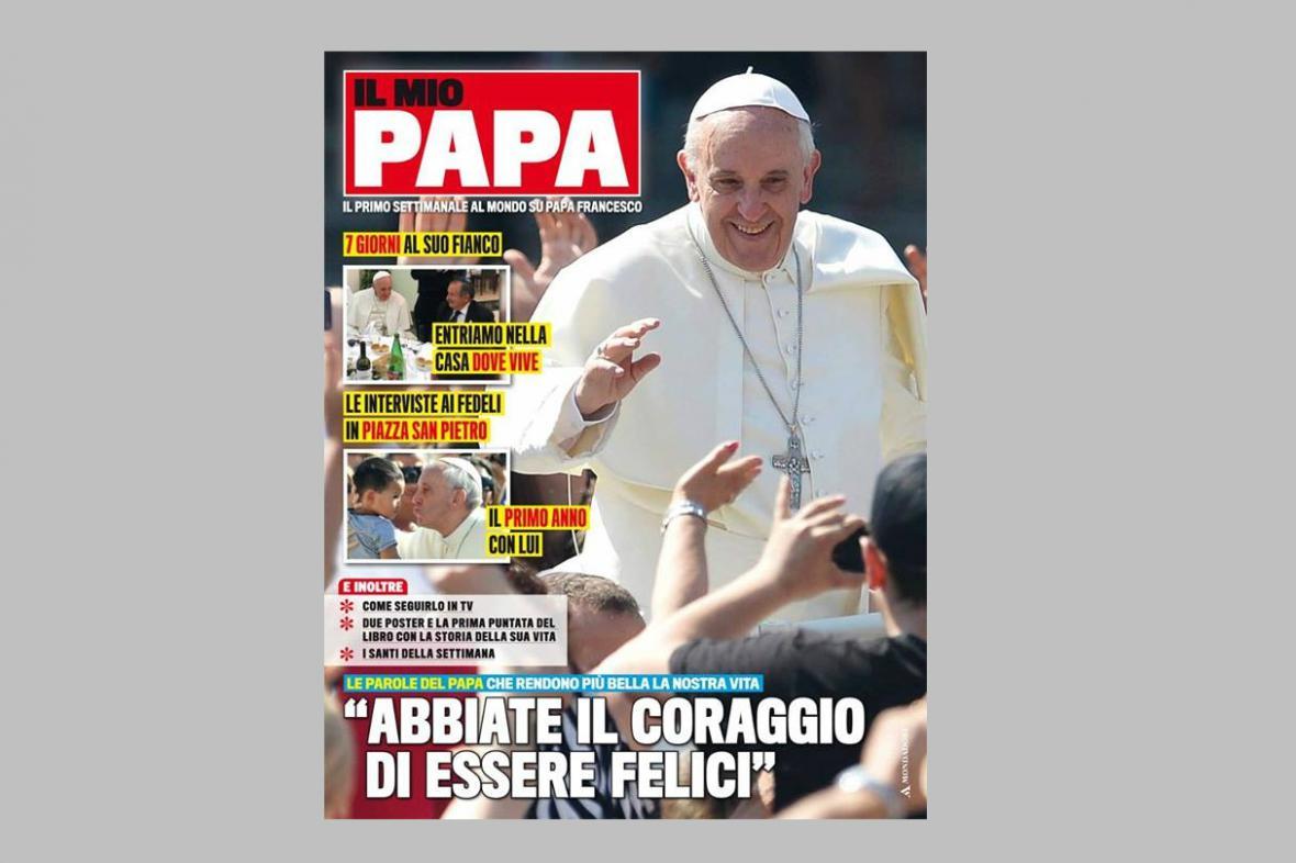 Titulní stránka magazínu Il Mio Papa