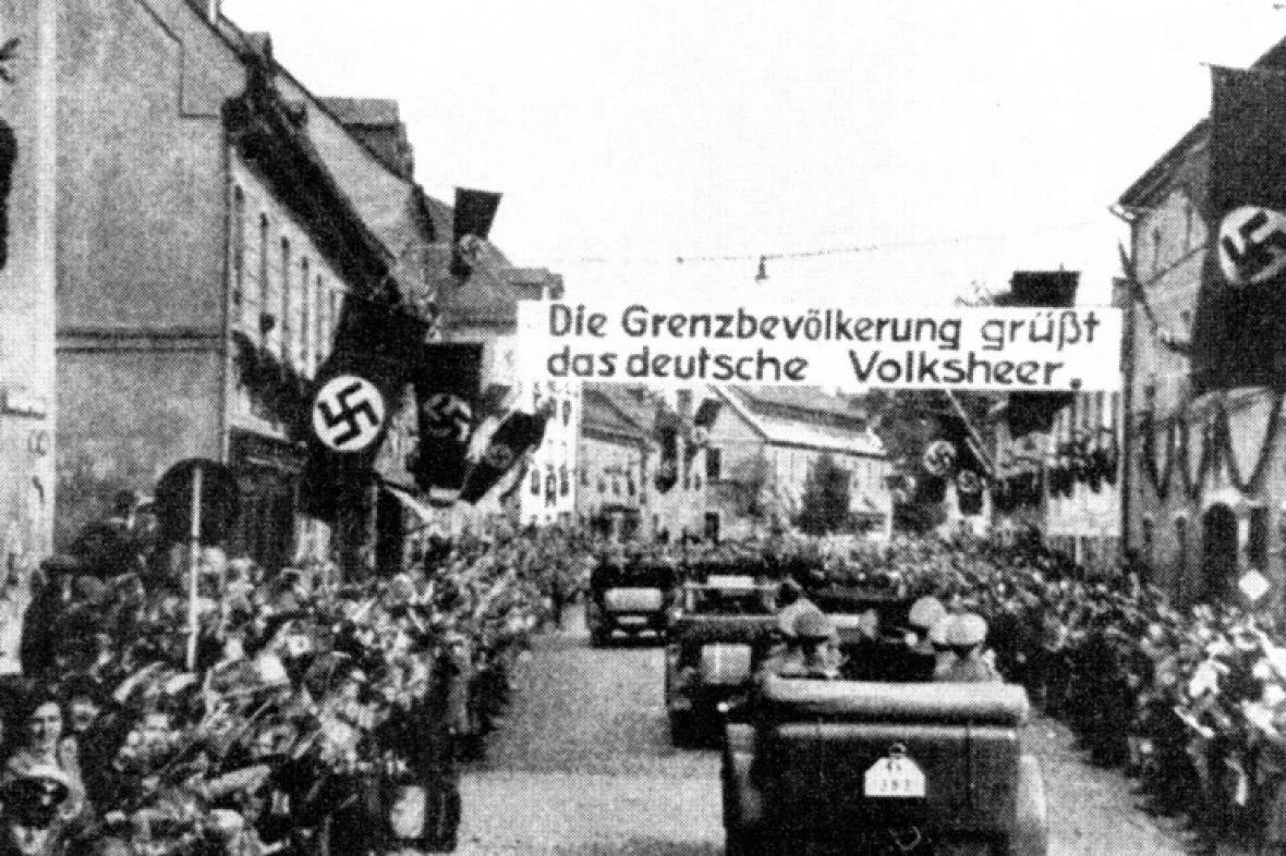 Příjezd Němců do Sudet