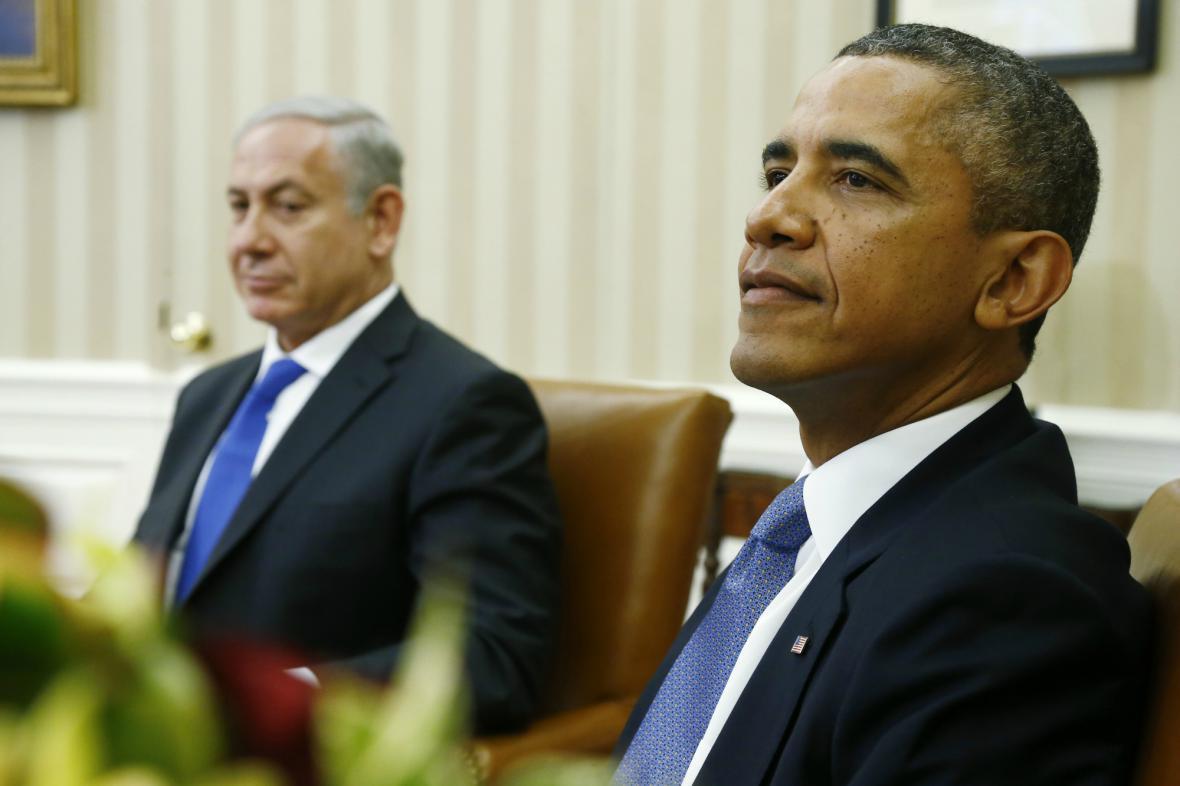 Netanjahu a Obama v Bílém domě
