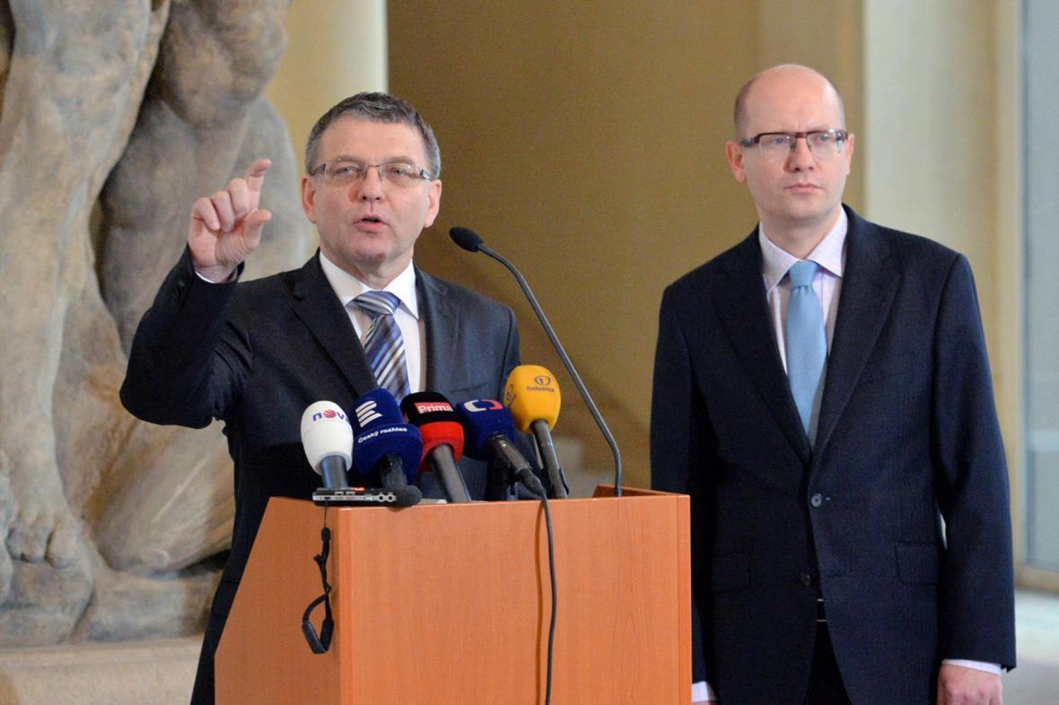 Lubomír Zaorálek a Bohuslav Sobotka (ČSSD)