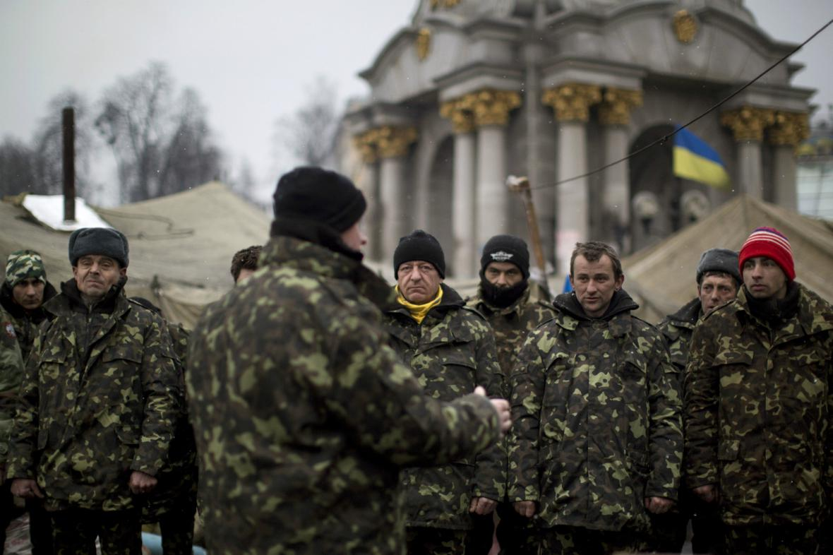 Příslušníci ukrajinských záloh
