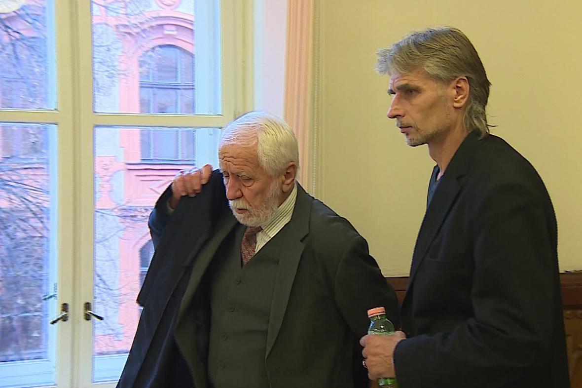 Jiří Večeř (vpravo)