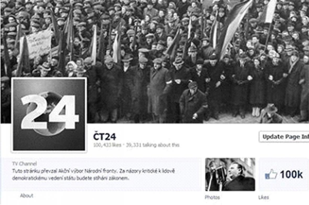 Facebook ČT24 - únor 1948