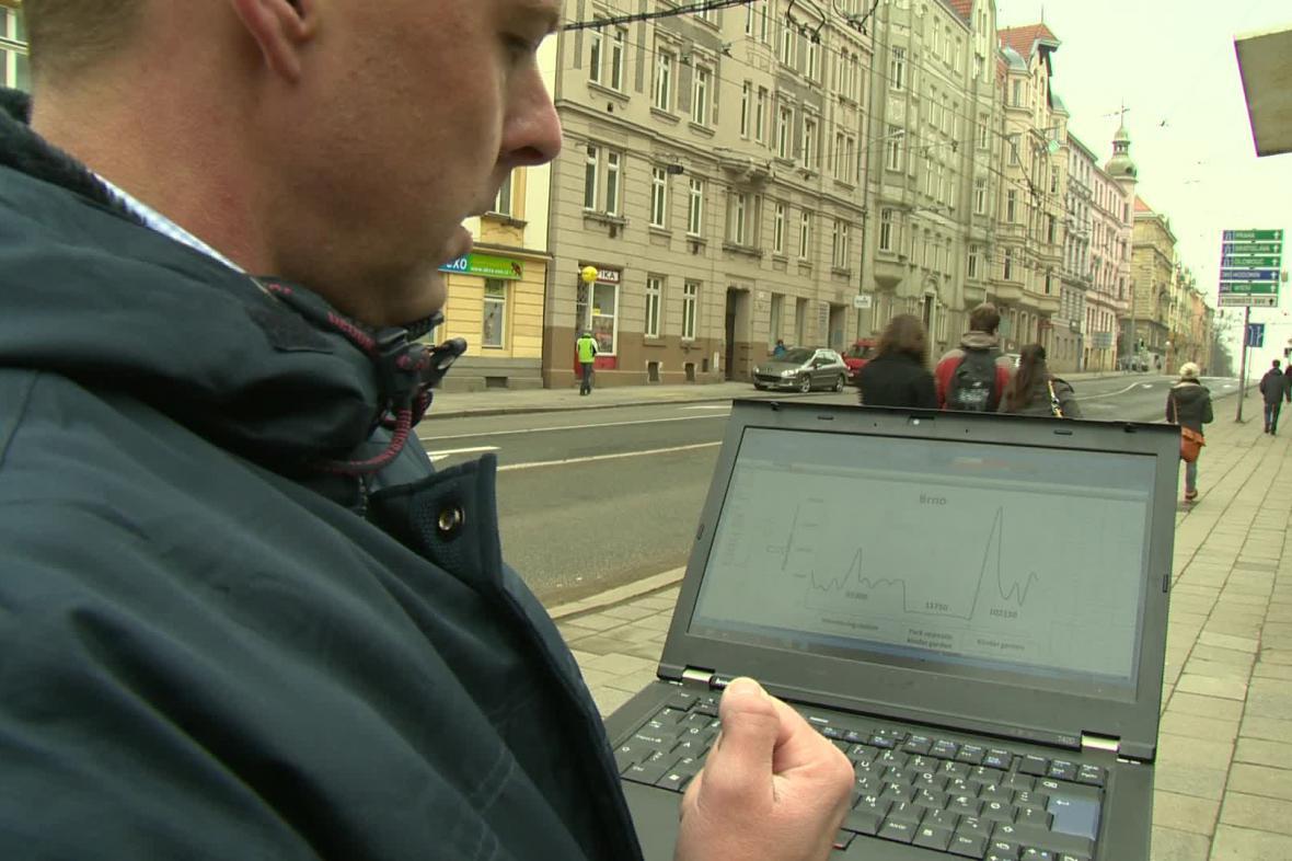 Měření kvality ovzduší v centru Brna