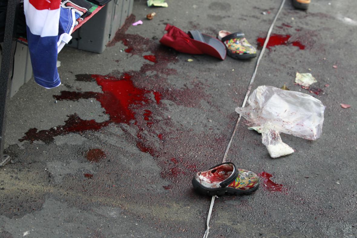 Následky výbuchu v Bangkoku