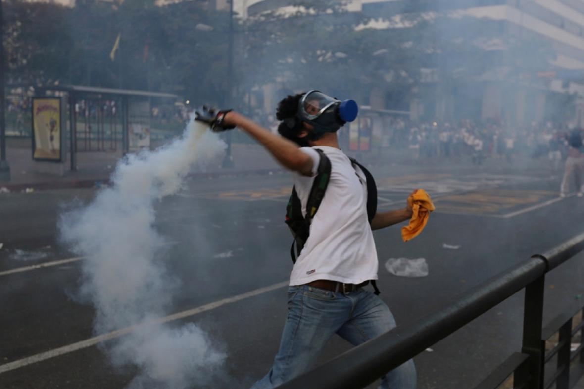Nepokoje v ulicích Caracasu