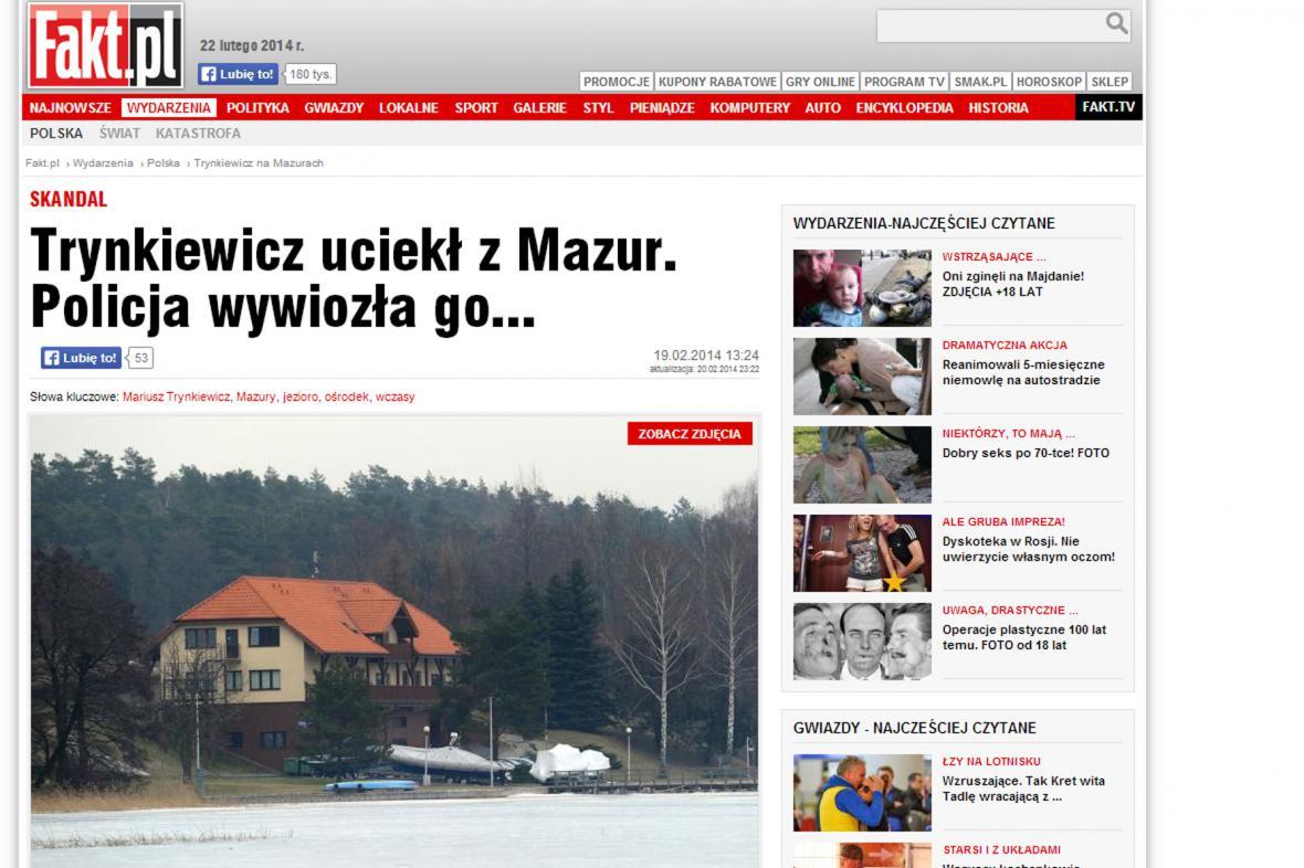 Polského vraha ukrývali ve výcvikovém potápěčském středisku