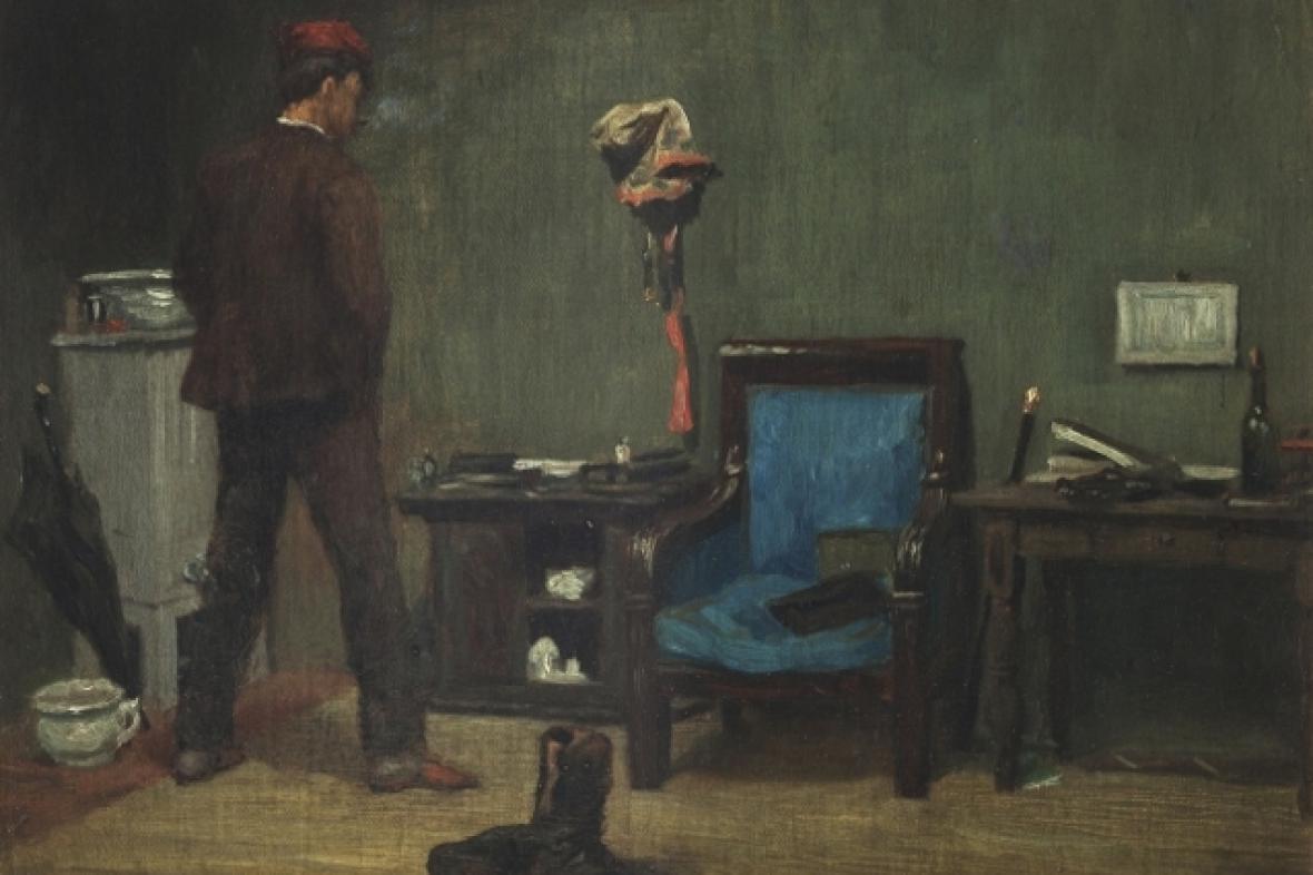 Soběslav H. Pinkas, Autoportrét v ateliéru, 1854
